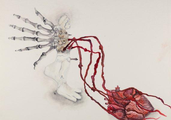 Le cœur lourd
